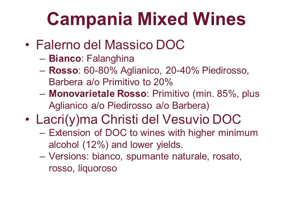 Campania Mixed Wines Falerno del Massico DOC