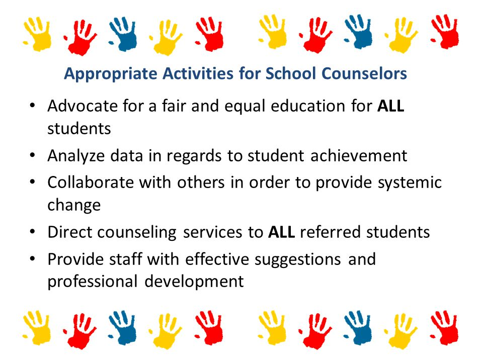 Appropriate Activities for School Counselors