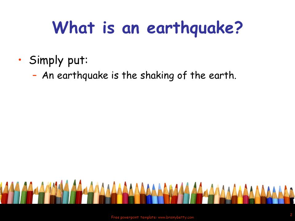 Quaking shaking earth all about earthquakes ppt video online 2 free powerpoint template toneelgroepblik Gallery