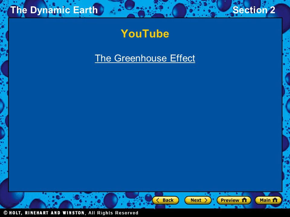YouTube The Greenhouse Effect