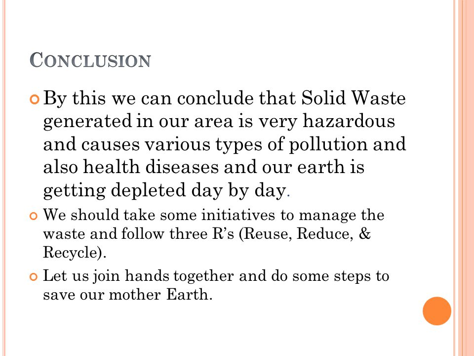 causes of solid waste management