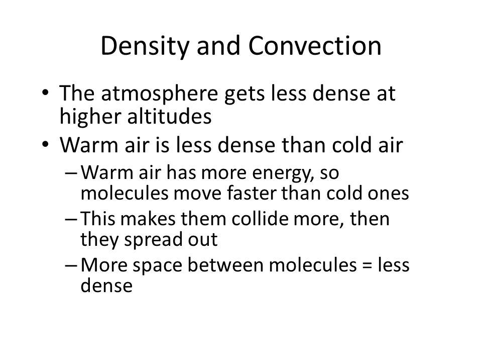 Density and Convection