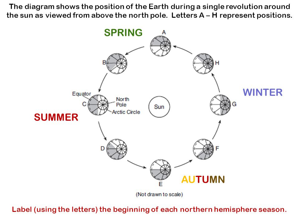 Diagram shows earth orbiting the sun diy wiring diagrams which statement concerning the diagram is probably true the diagram rh slideplayer com earth rotation around ccuart Choice Image