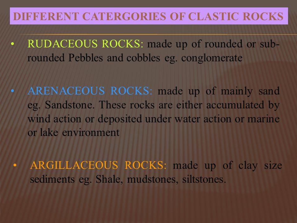 Slikovni rezultat za Common descriptions for Rudaceous and Arenaceous Rocks are: