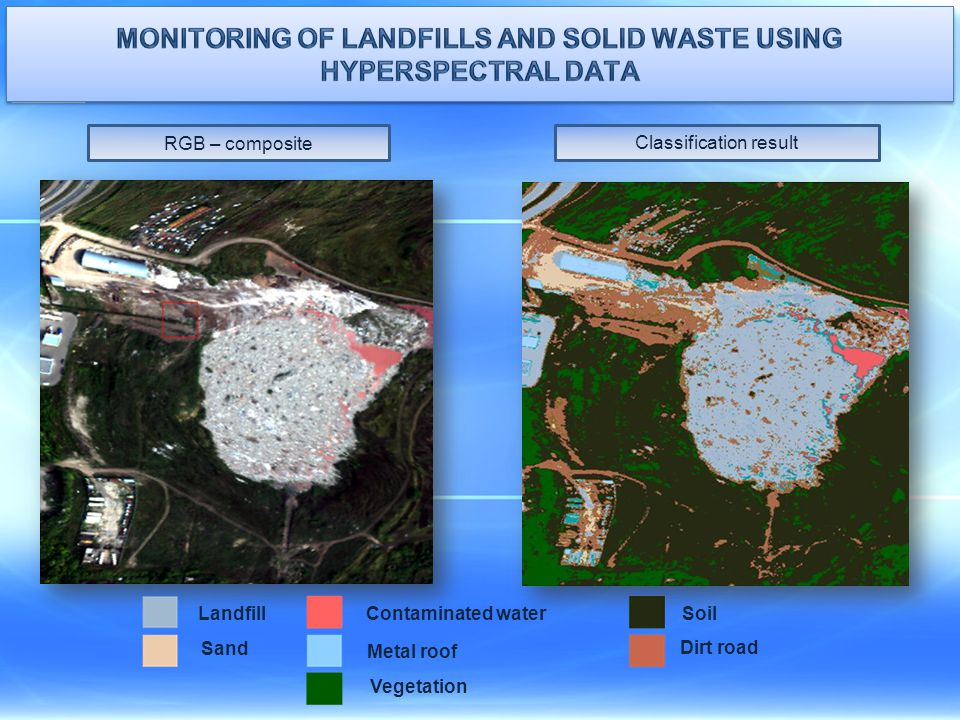 Monitoring of landfills and solid waste using hyperspectral data