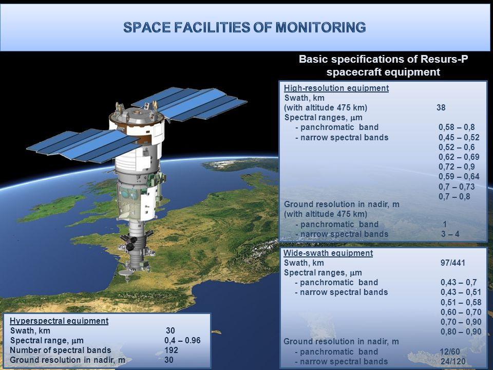 Space facilities of Monitoring