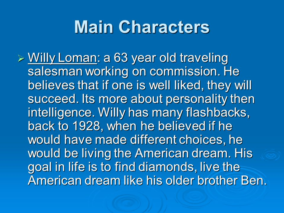 character sketch of willy loman pdf