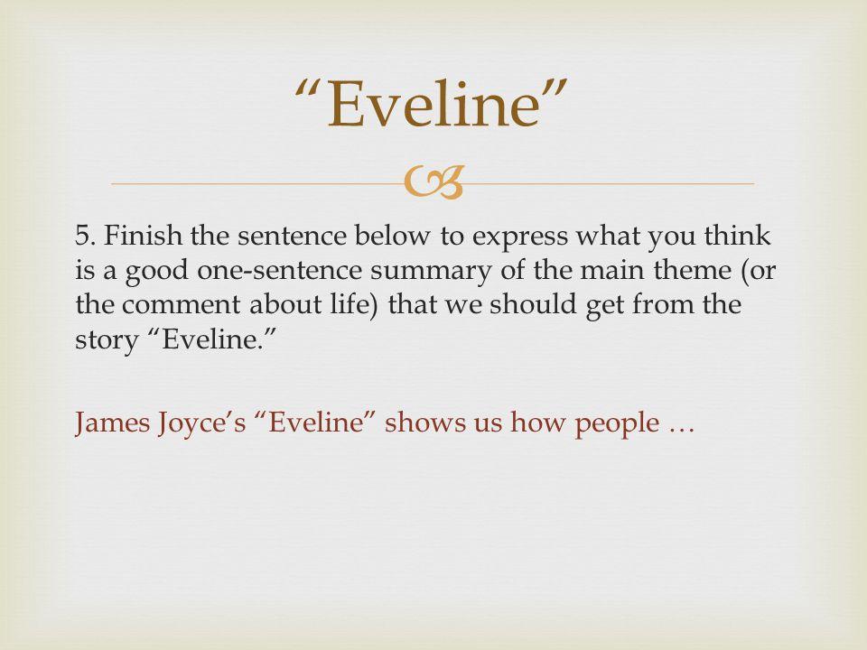 eveline short story text