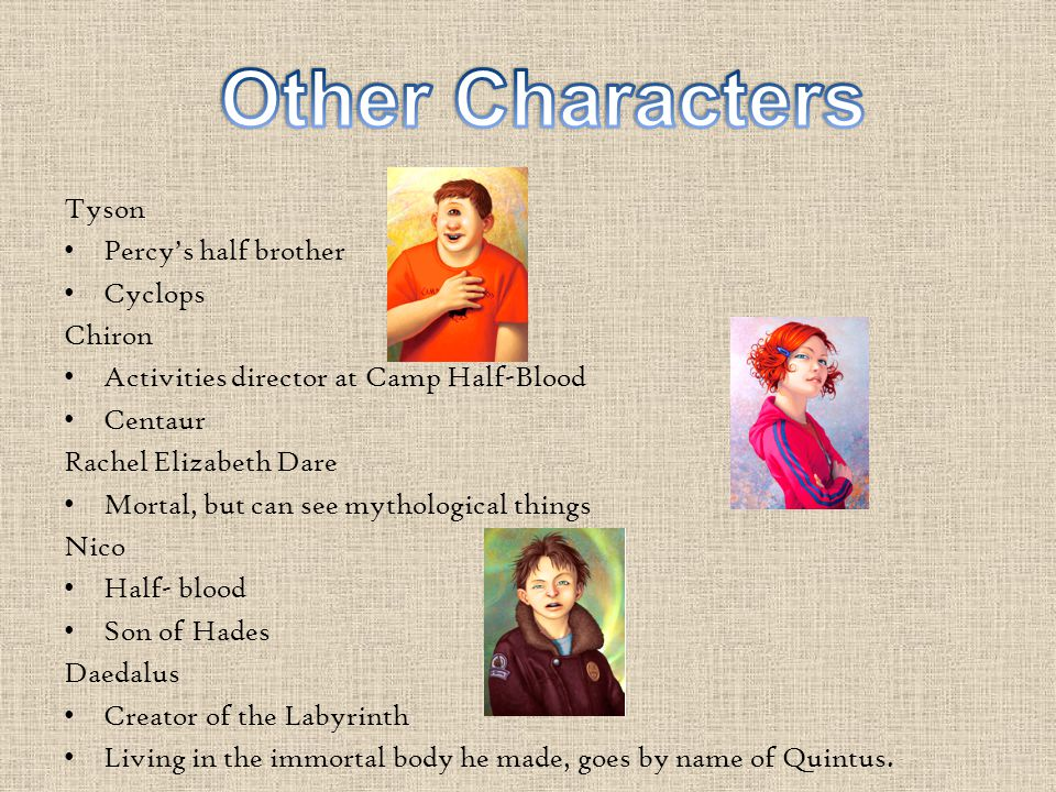 The Characters The Battle Of The Labyrinth Percy Jackson