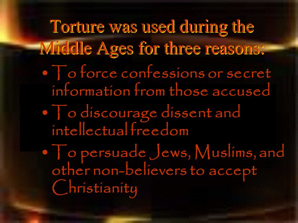 torture devices used in the middle ages
