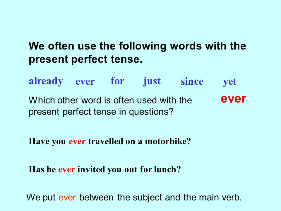 Present Perfect Tense Ppt Download