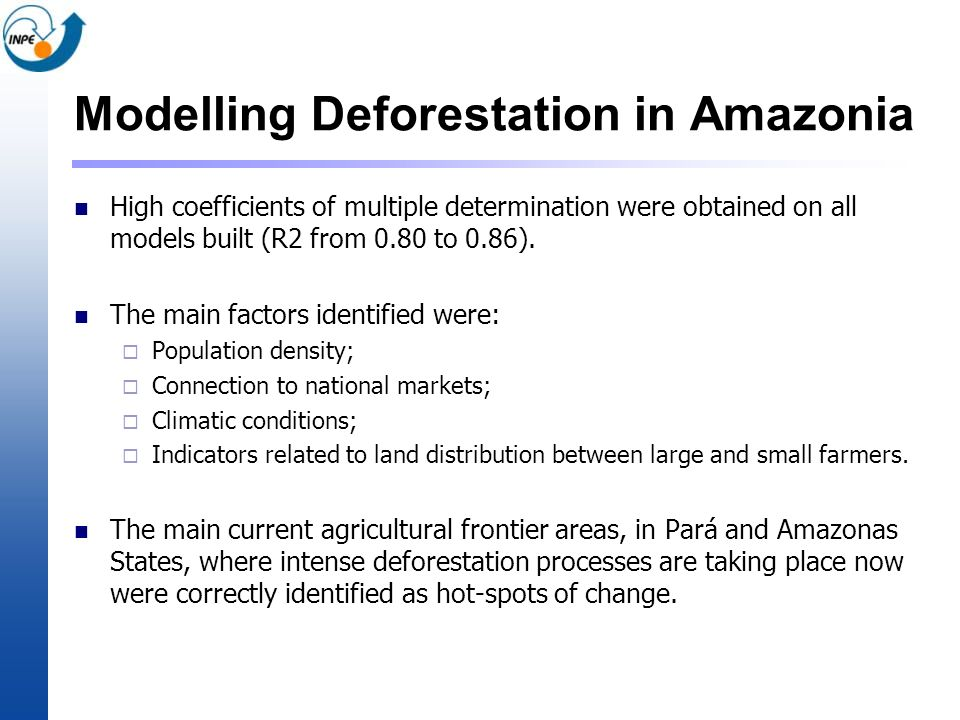 Modelling Deforestation in Amazonia