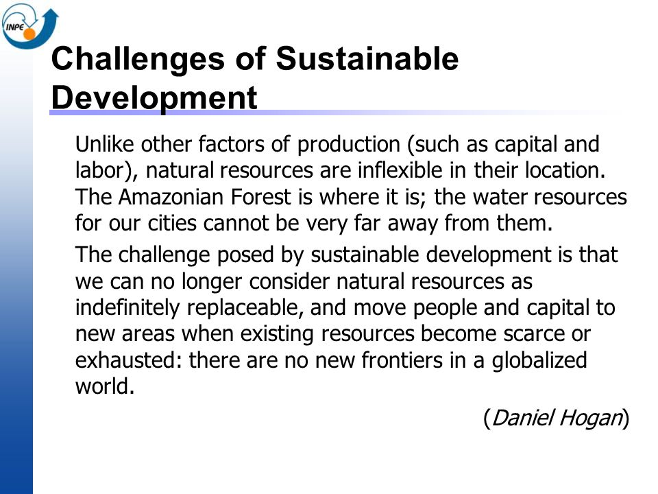 Challenges of Sustainable Development