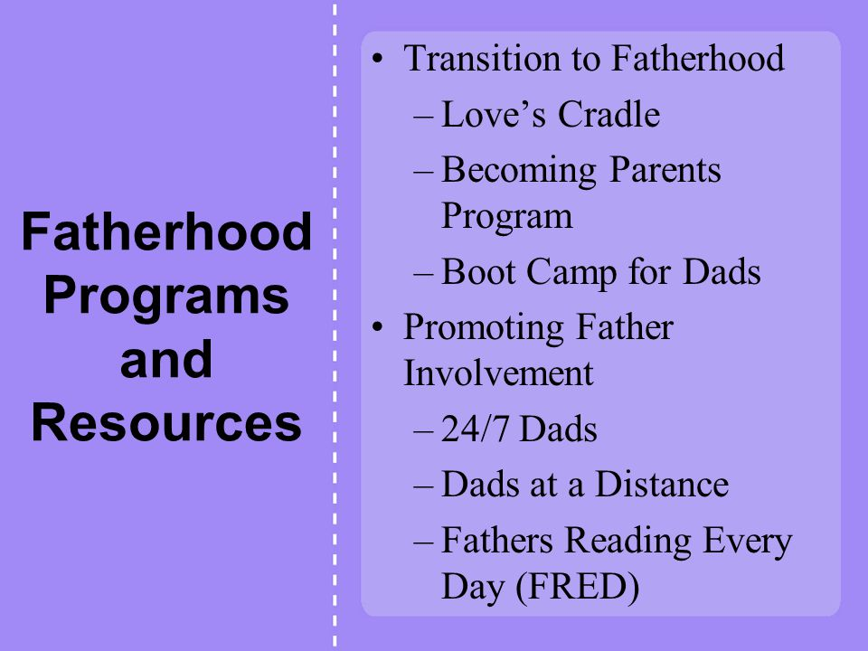 Promoting Father Involvement - ppt download