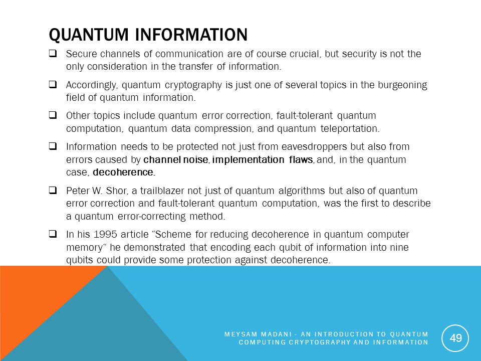 An Introduction to Quantum Computing Cryptography and