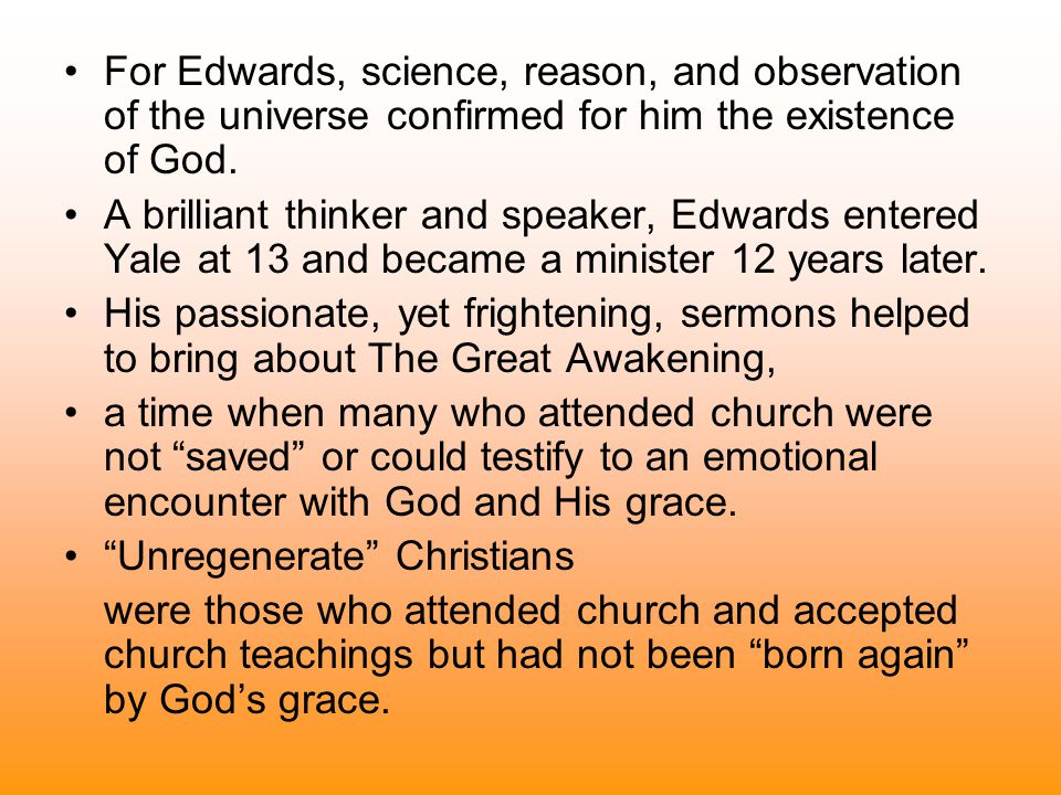 Jonathan Edwards Sinners In The Hands Of An Angry God Ppt Video