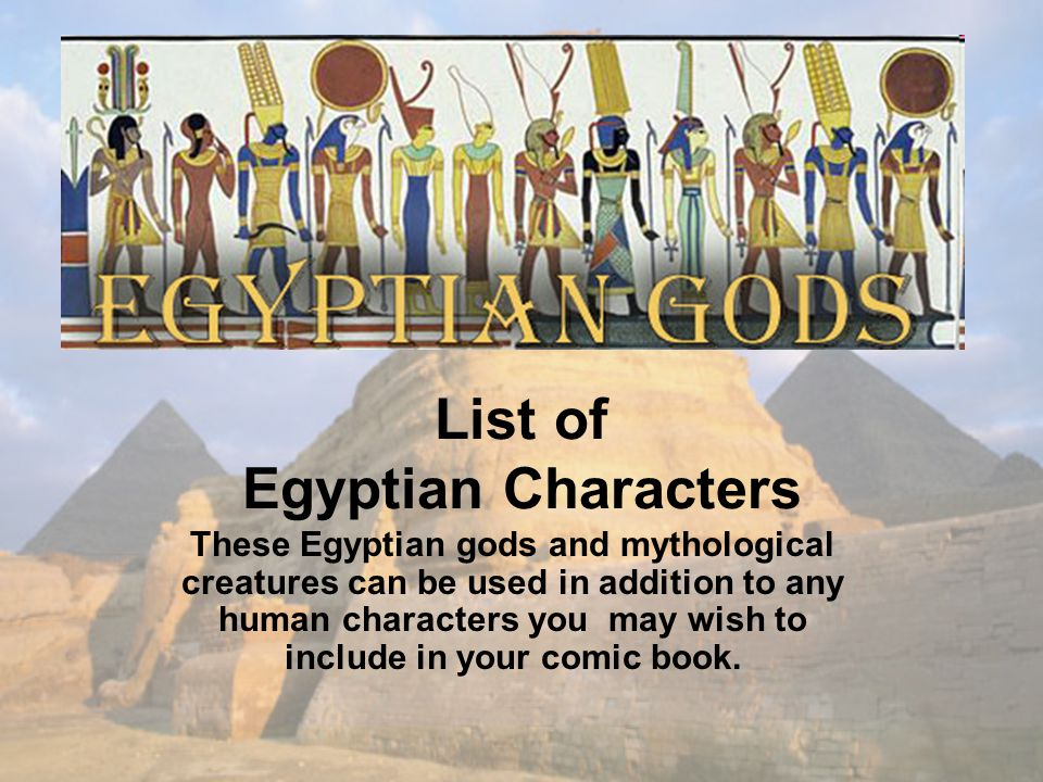 List of Egyptian Characters
