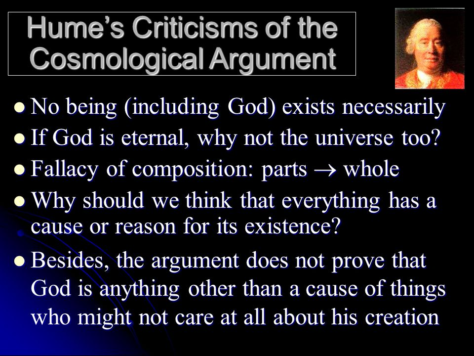 an arguement on existence of god Arguments for the existence of god involve carefully crafted reasoning to force an individual to accept the undeniable truth that god exists see also: list of proofs of god see also: common arguments against atheism.