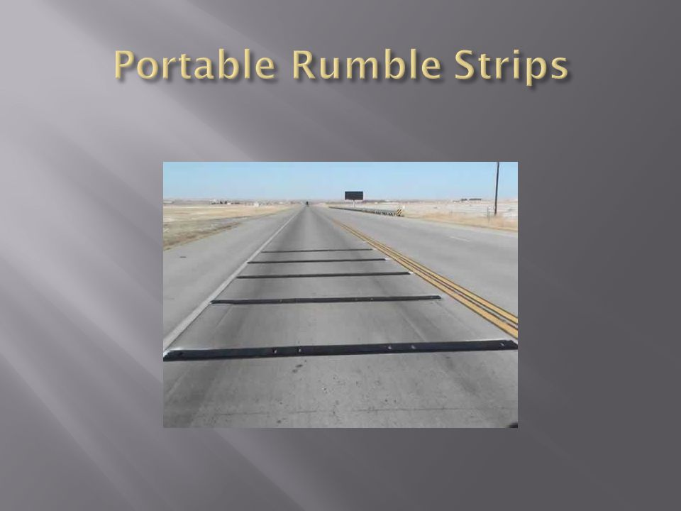 Portable Rumble Strips
