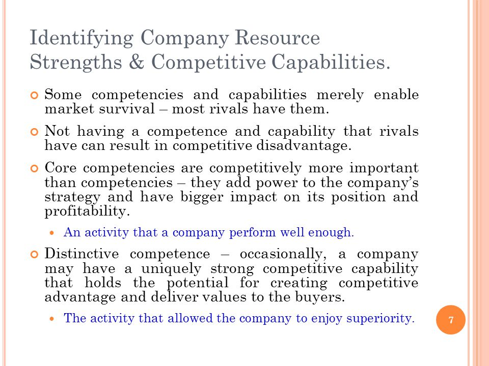 company strengths and core competencies