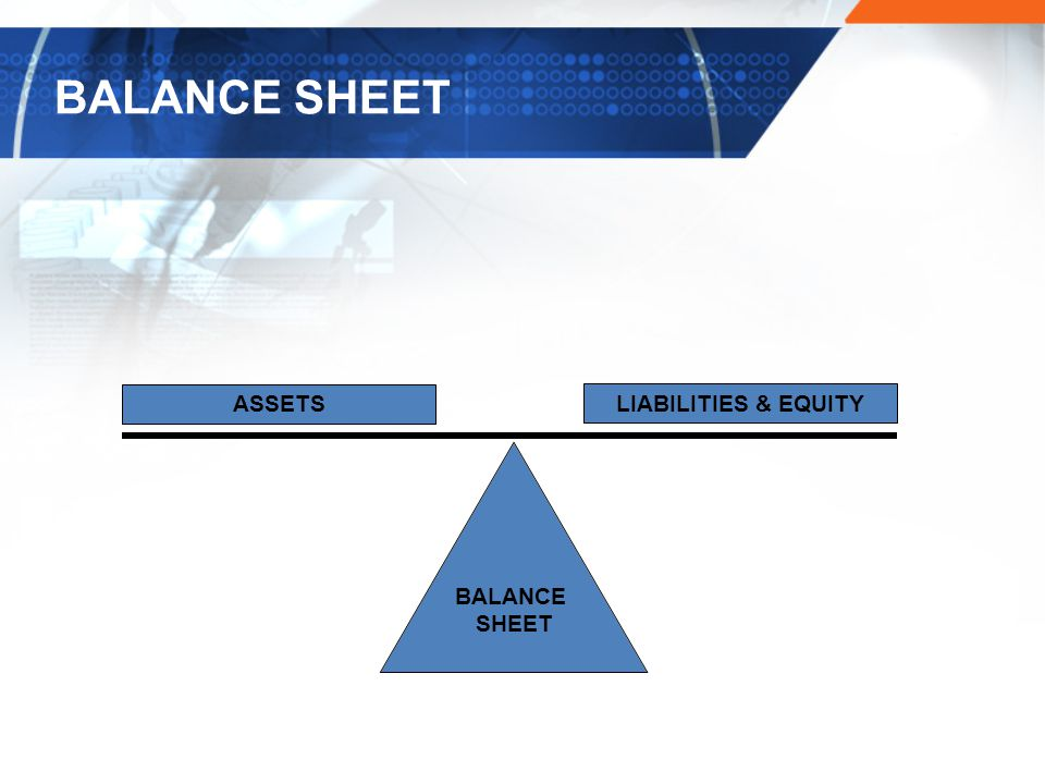 BALANCE SHEET ASSETS LIABILITIES & EQUITY