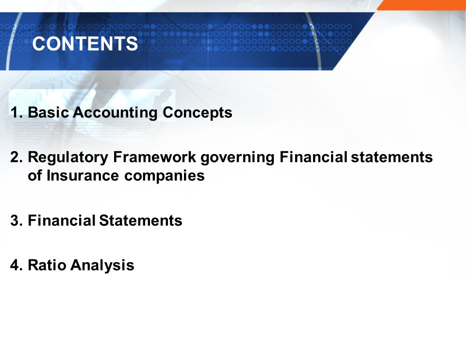 CONTENTS Basic Accounting Concepts