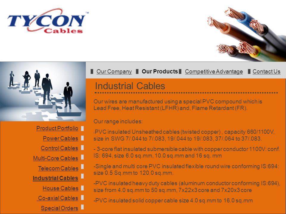 Company Presentation Tycon PVC Wires & Cables TYCON Cables. - ppt ...