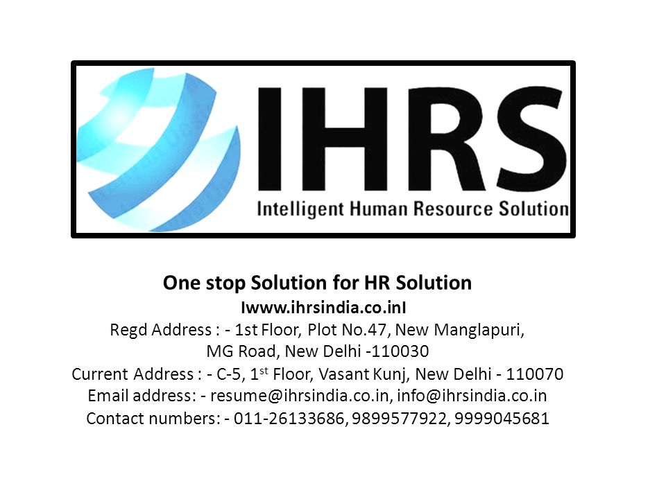 One stop Solution for HR Solution