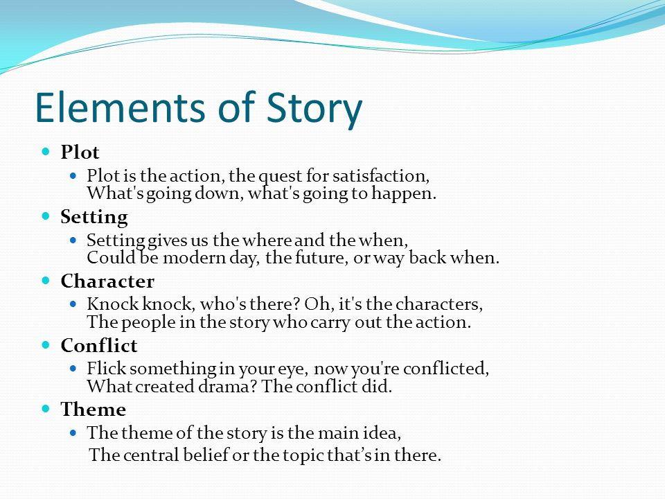 2 Elements Of Story Plot