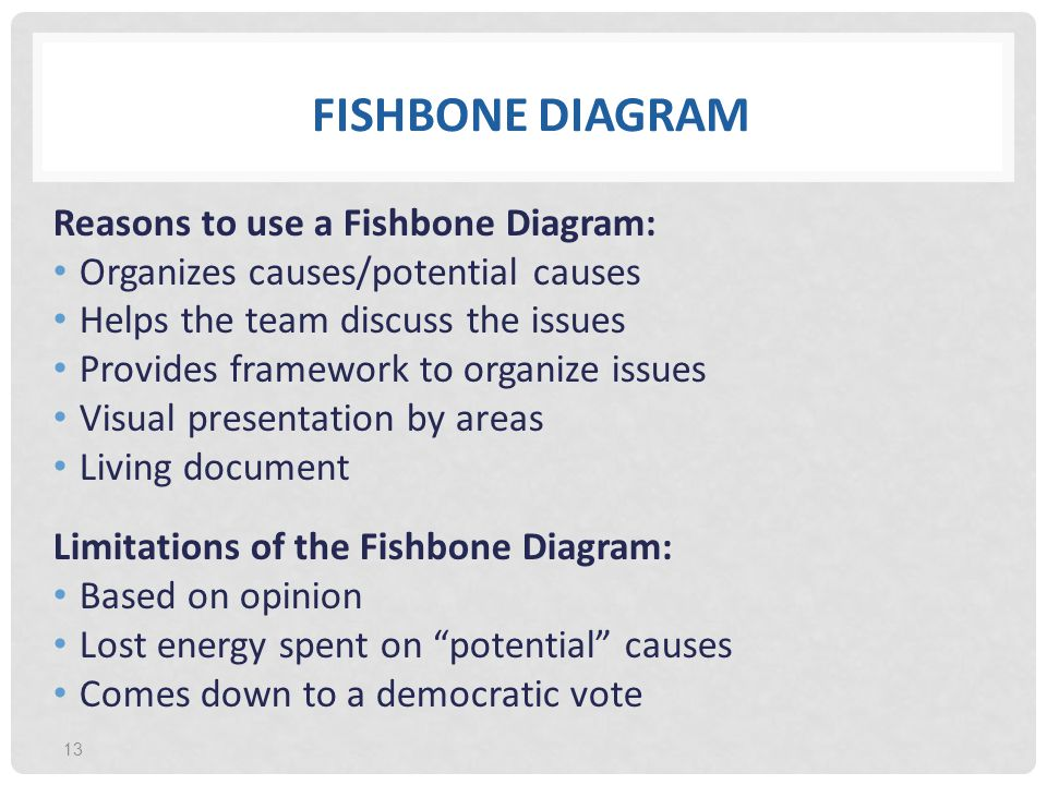 Fishbone diagram limitations basic guide wiring diagram quality tools for process improvement ppt download rh slideplayer com fishbone diagram template fishbone diagram example ccuart Gallery