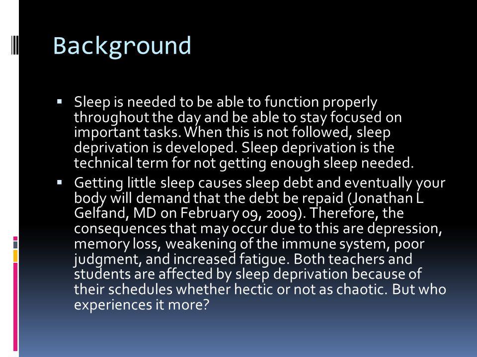 sleep deprivation essay conclusion