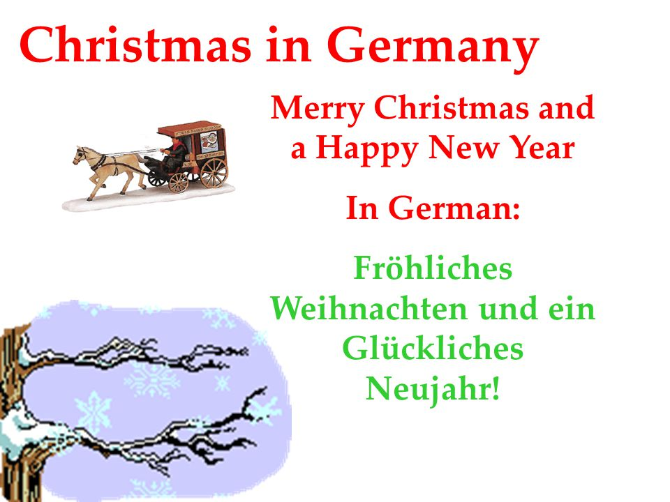 Christmas In Germany Merry Christmas And A Happy New Year In German: