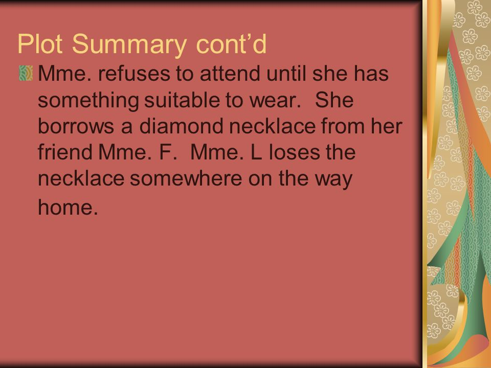 the diamond necklace full story