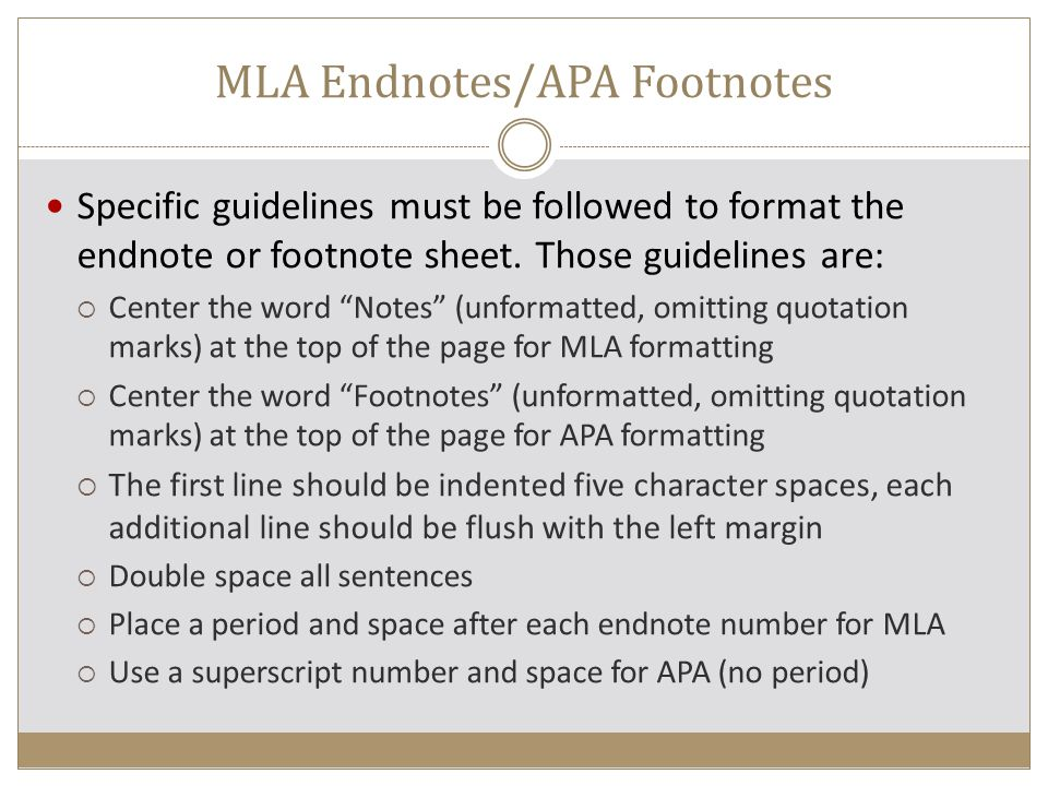 mla endnotes example