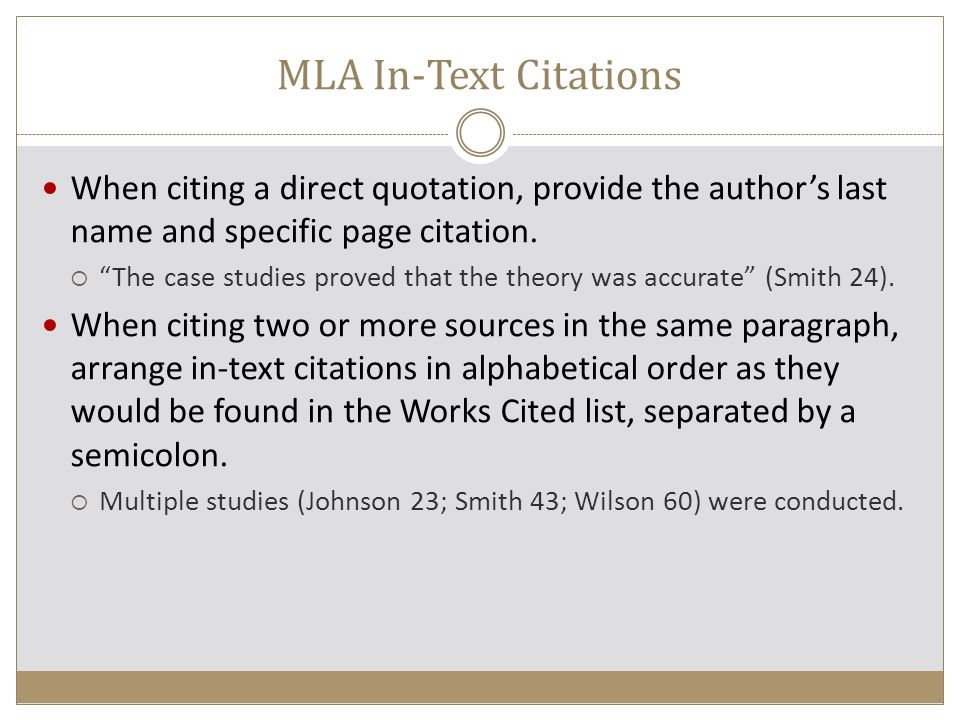 mla works cited multiple pages