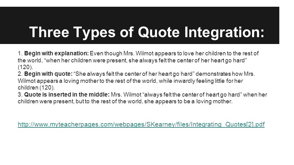 Integrating Quotations Into Sentences Ppt Video Online Download Stunning Quote Integration