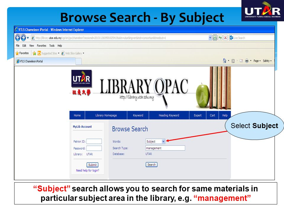 Browse Search - By Subject