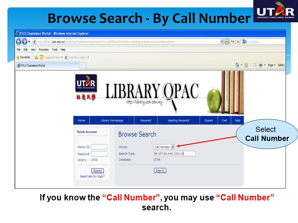 Browse Search - By Call Number