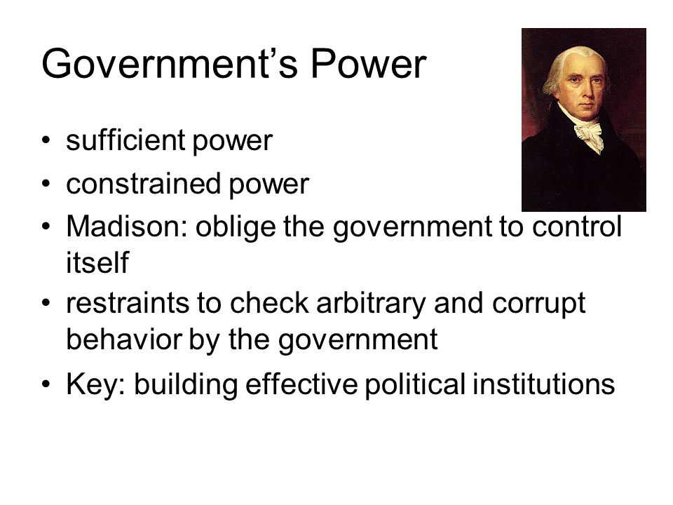 Government's Power sufficient power constrained power
