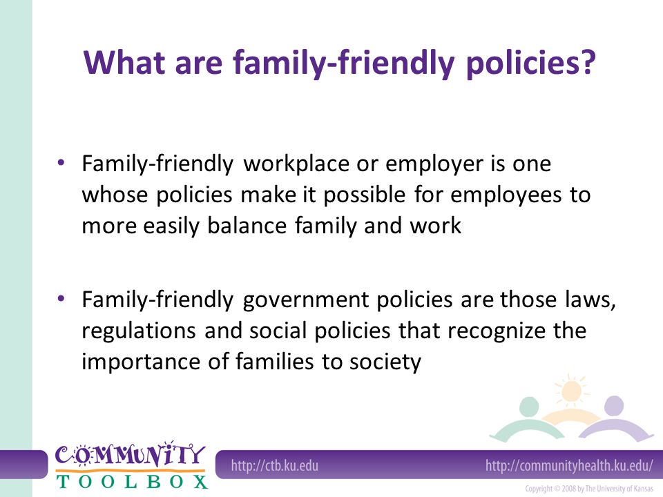 What are family-friendly policies