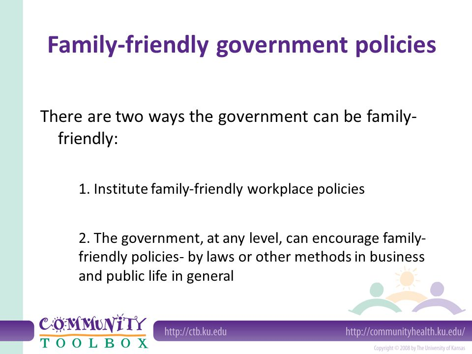 Family-friendly government policies
