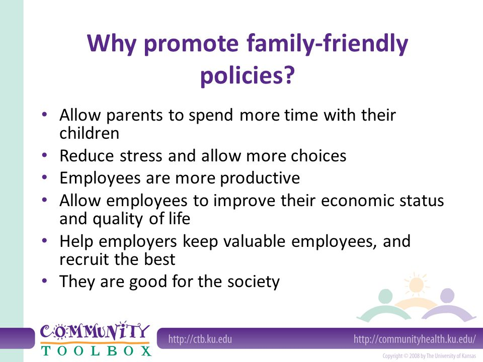 Why promote family-friendly policies