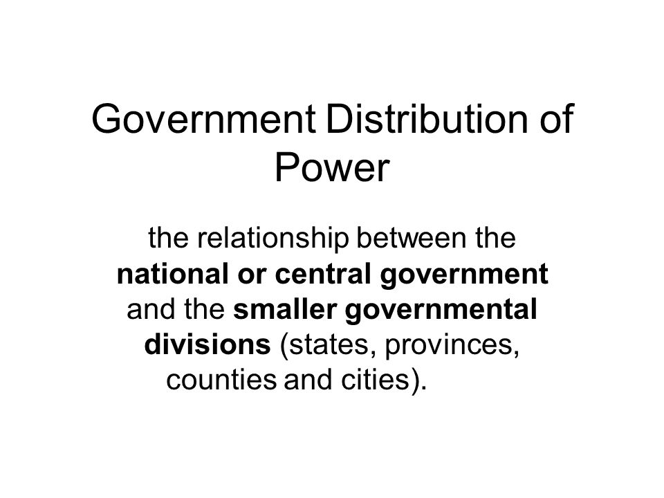Government Distribution of Power