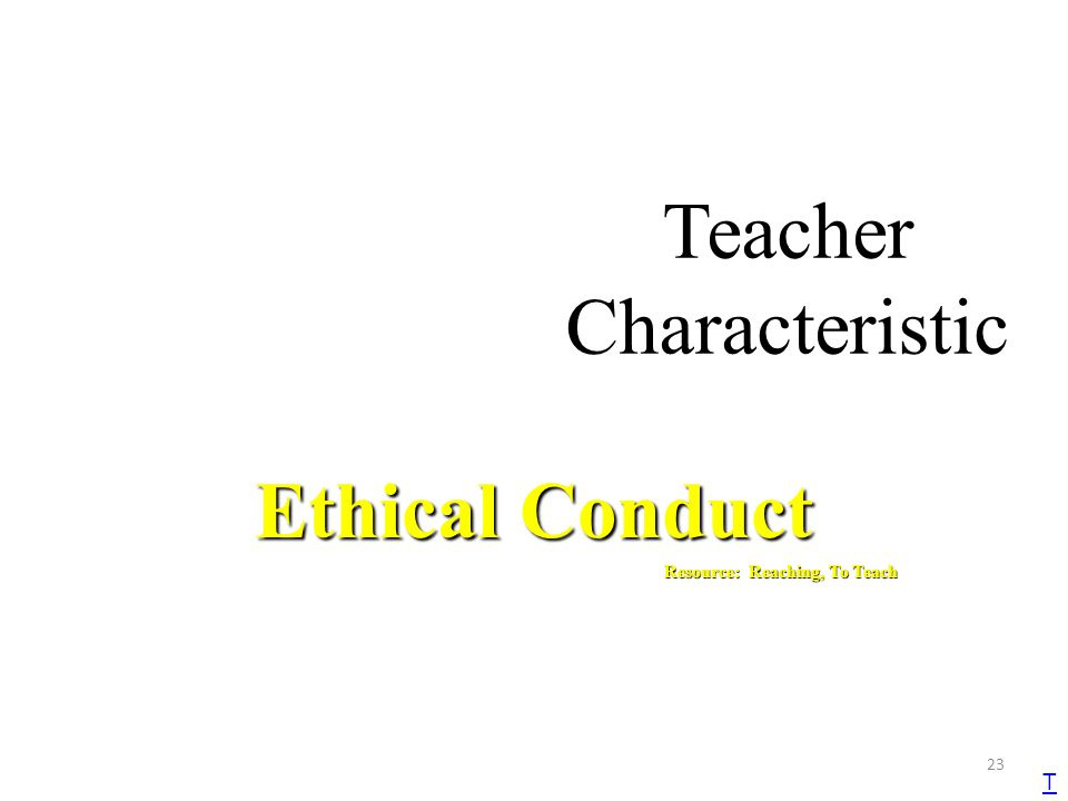 Teacher Characteristic
