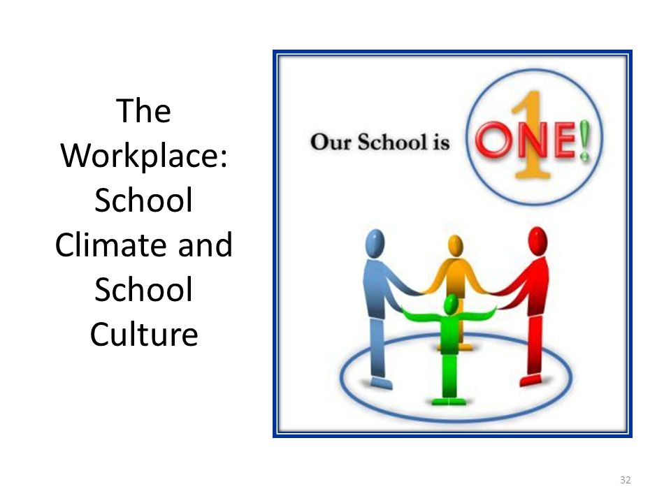 The Workplace: School Climate and School Culture