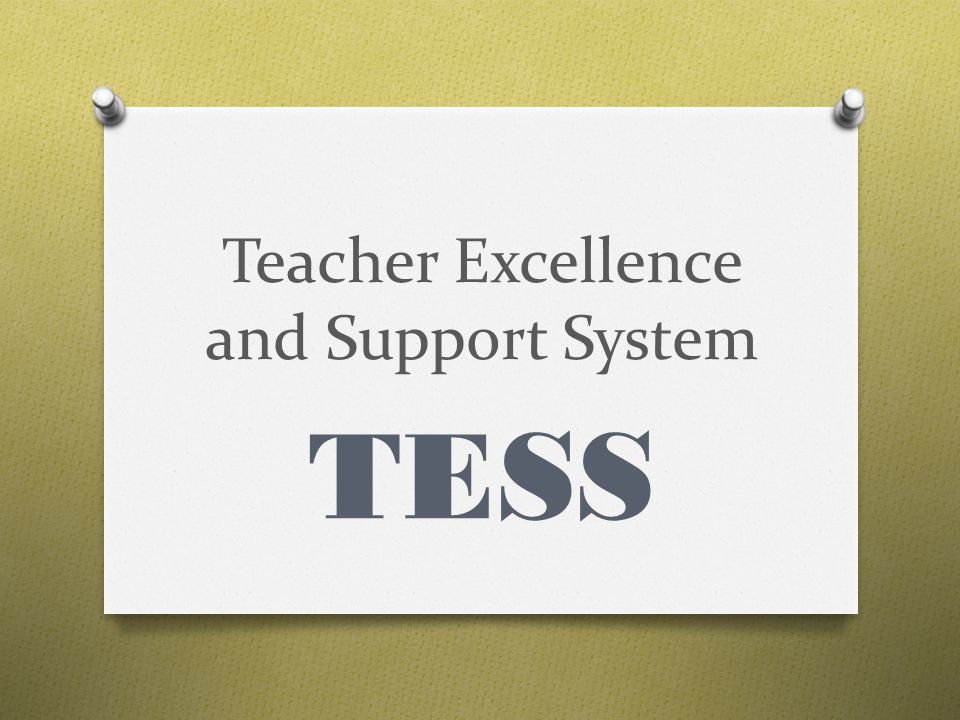Teacher Excellence and Support System