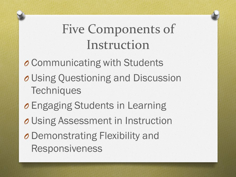 Five Components of Instruction