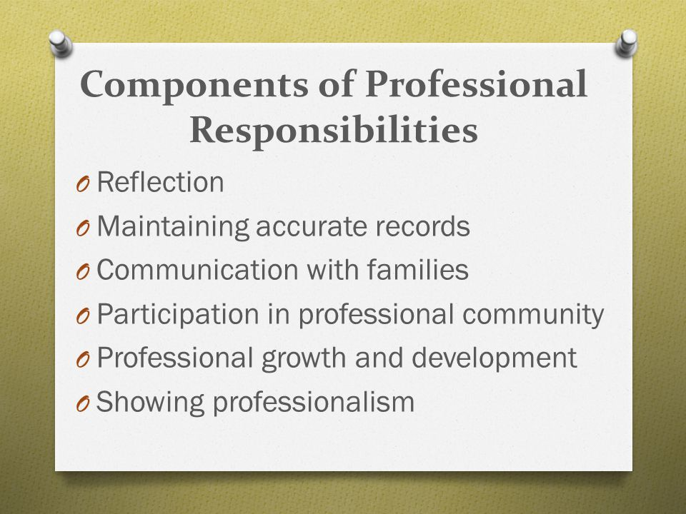 Components of Professional Responsibilities