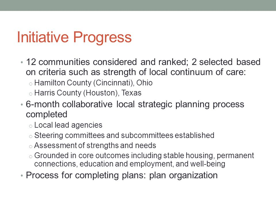 6-month collaborative local strategic planning process completed