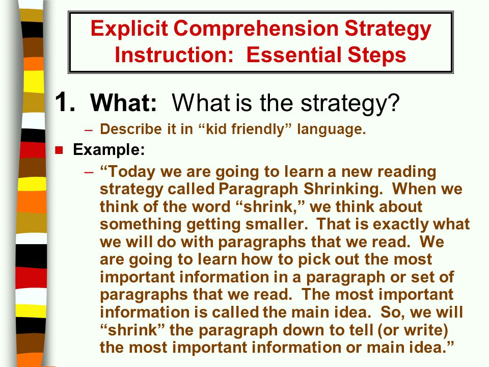 Vocabulary And Reading Comprehension In The Primary Grades Ppt